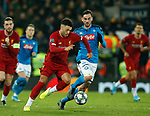 Alex Oxlade-Chamberlain of Liverpool chased by Fabian Ruiz of Napoli  during the UEFA Champions League match at Anfield, Liverpool. Picture date: 27th November 2019. Picture credit should read: Andrew Yates/Sportimage