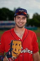 State College Spikes David Vinsky (11) poses for a photo before a NY-Penn League game against the Batavia Muckdogs on July 2, 2019 at Dwyer Stadium in Batavia, New York.  Batavia defeated State College 1-0.  (Mike Janes/Four Seam Images)