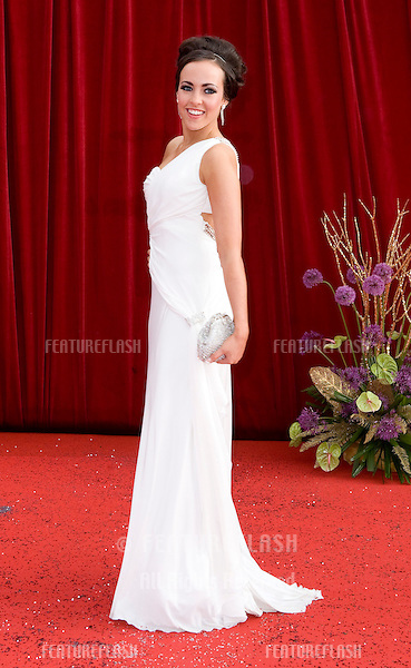 Stephanie Davis arrives for the 2011 Soap Awards held at Granada Studios in Manchester. 14/05/2011. Picture by Simon Burchell/Featureflash