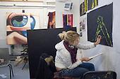 Fine Art students at University College for the Creative Arts, Farnham.