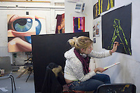 Fine Art students at University College for the Creative Arts, Farnham.