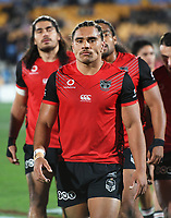 Isaiah Papali'i.<br /> NRL Premiership rugby league. Vodafone Warriors v St George Illawarra. Mt Smart Stadium, Auckland, New Zealand. Friday 20 April 2018. &copy; Copyright photo: Andrew Cornaga / www.Photosport.nz