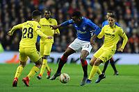 Lassana Coulibaly of Rangers battles for the ball with Manu Morlanes of Villarreal CF during Rangers vs Villarreal CF, UEFA Europa League Football at Ibrox Stadium on 29th November 2018