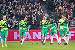 10.02.2019, Weser Stadion, Bremen, GER, 1.FBL, Werder Bremen vs FC Augsburg, <br /> <br /> DFL REGULATIONS PROHIBIT ANY USE OF PHOTOGRAPHS AS IMAGE SEQUENCES AND/OR QUASI-VIDEO.<br /> <br />  im Bild<br /> <br /> 1:0 Milot Rashica (Werder Bremen #11) <br /> Max Kruse (Werder Bremen #10)<br /> Ludwig Augustinsson (Werder Bremen #05)<br /> Sebastian Langkamp (Werder Bremen #15)<br /> Theodor Gebre Selassie (Werder Bremen #23)<br /> Niklas Moisander (Werder Bremen #18)<br /> Davy Klaassen (Werder Bremen #30)<br /> <br /> <br /> <br /> jubel <br /> Foto &copy; nordphoto / Kokenge