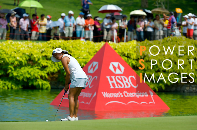 SINGAPORE - MARCH 08:  Jane Prk of the USA on the par four 18th hole during the final round of HSBC Women's Champions at the Tanah Merah Country Club on March 8, 2009 in Singapore.  Photo by Victor Fraile / The Power of Sport Images