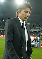 Antonio Conte  during the Italian Serie A soccer match between SSC Napoli and Juventus FC   at San Paolo stadium in Naples, March 30 , 2014