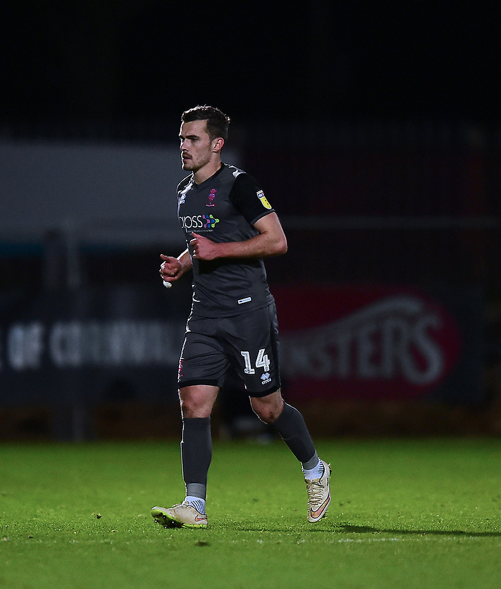 Lincoln City's Harry Toffolo<br /> <br /> Photographer Andrew Vaughan/CameraSport<br /> <br /> The EFL Sky Bet League Two - Stevenage v Lincoln City - Saturday 8th December 2018 - The Lamex Stadium - Stevenage<br /> <br /> World Copyright © 2018 CameraSport. All rights reserved. 43 Linden Ave. Countesthorpe. Leicester. England. LE8 5PG - Tel: +44 (0) 116 277 4147 - admin@camerasport.com - www.camerasport.com