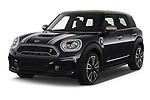 2020 MINI Countryman Cooper-SE-JCW 5 Door SUV Angular Front automotive stock photos of front three quarter view
