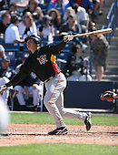 Einar Diaz of the Pittsburgh Pirates vs. the New York Yankees March 18th, 2007 at Legends Field in Tampa, FL during Spring Training action.  Photo copyright Mike Janes Photography 2007.