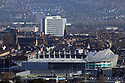 Windsor Park Football Stadium. Belfast city skyline as of 16 Nov 2017.Belfast is Northern Ireland's capital. It was the birthplace of the RMS Titanic, which famously struck an iceberg and sunk in 1912. This legacy is recalled in the renovated dockyards' Titanic Quarter, which includes the Titanic Belfast, an aluminium-clad museum reminiscent of a ship's hull, as well as shipbuilder Harland & Wolff's Drawing Offices and the Titanic Slipways, which now host open-air concerts.