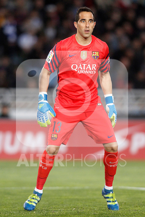 FC Barcelona's Claudio Bravo during La Liga match. April 9,2016. (ALTERPHOTOS/Acero)