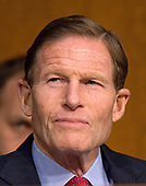 United States Senator Richard Blumenthal (Democrat of Connecticut) listens as Judge Neil Gorsuch testifies before US Senate Judiciary Committee on his nomination as Associate Justice of the US Supreme Court to replace the late Justice Antonin Scalia on Capitol Hill in Washington, DC on Tuesday, March 21, 2017.<br /> Credit: Ron Sachs / CNP