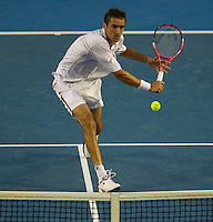 Marin Cilic (CRO) (14) against Andy Murray (GBR) (5) in the Semi-Final of the Mens SIngles. Murray beat Cilic 3-6 6-4 6-4 6-2..International Tennis - Australian Open Tennis - Thur 28  Jan 2010 - Melbourne Park - Melbourne - Australia ..© Frey - AMN Images, 1st Floor, Barry House, 20-22 Worple Road, London, SW19 4DH.Tel - +44 20 8947 0100.mfrey@advantagemedianet.com