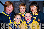 HELP: Helping out some of the brownies on Friday night in Cumann Iosaf on the Brownies Thinking Day, Front l-r: Michelle McCarthy and Kelly Tobin Back leaders: l-r: Mary O'Callahan, Val Caplen (Distrist Commisoner) and Phylis Herlihy.......................