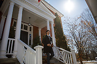 Prime Minister Trudeau speaks with media outside of Rideau Cottage during his ongoing self-isolation. March 27, 2020.