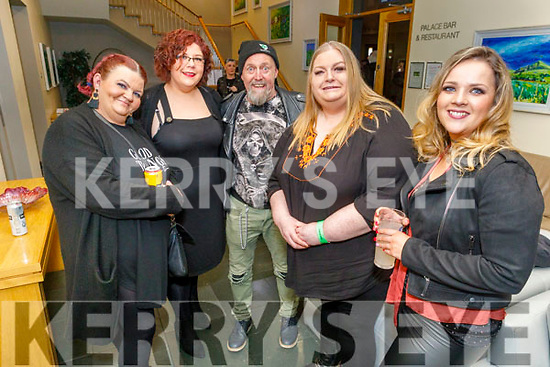 Ready to  dance the night away at the 30th Down and Out Rally No Hopers party in the Ballyroe Heights Hotel on Saturday.<br /> L to r: Niamh Ryder, Lisa O'Brien, Pat O'Mhuirchu, Marie Egan and Jackie Condon.