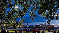 LOUISVILLE, KENTUCKY - May 02:Fans watch from Dawn at the Downs during Kentucky Derby and Oaks preparations at Churchill Downs on April 30, 2017 in Louisville, Kentucky. (Photo by Scott Serio/Eclipse Sportswire/Getty Images)
