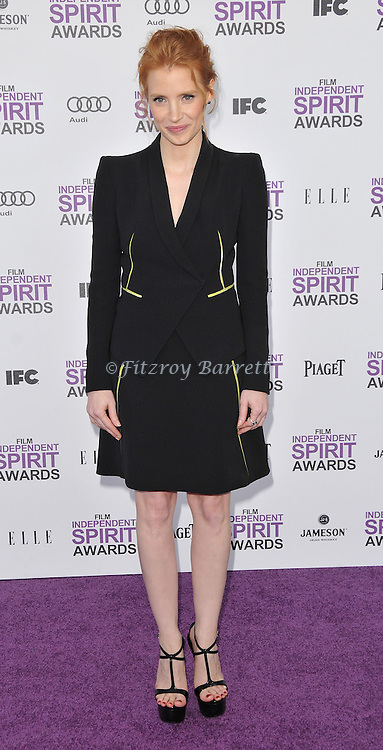 Jessica Chastain at the 2012 Film Independent Spirit Awards held at Santa Monica Beach, CA. February 25, 2012