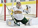 30 November 2009: University of Vermont Catamount goaltender Mike Spillane, a Senior from Bow, NH, makes a first period save against the Yale University Bulldogs at Gutterson Fieldhouse in Burlington, Vermont. Spillane made 26 saves to lead the Catamounts to a 1-0 shutout in a rematch of last season's first round of the NCAA post-season playoff Tournament. Mandatory Credit: Ed Wolfstein Photo