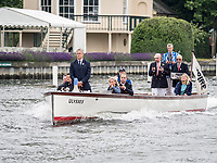 Henley Royal Regatta, Henley on Thames, Oxfordshire, 28 June - 2 July 2017.  Wednesday  09:08:05   28/06/2017  [Mandatory Credit/Intersport Images]<br /> <br /> Rowing, Henley Reach, Henley Royal Regatta.<br /> R C Stanhope, Esq. Umpire on launch ULYSSES