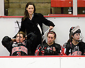 Annie Hogan (NU - 3), Lauren McAuliffe (NU - Co-Head Coach), ?, ? - The Harvard University Crimson defeated the Northeastern University Huskies 1-0 to win the 2010 Beanpot on Tuesday, February 9, 2010, at the Bright Hockey Center in Cambridge, Massachusetts.