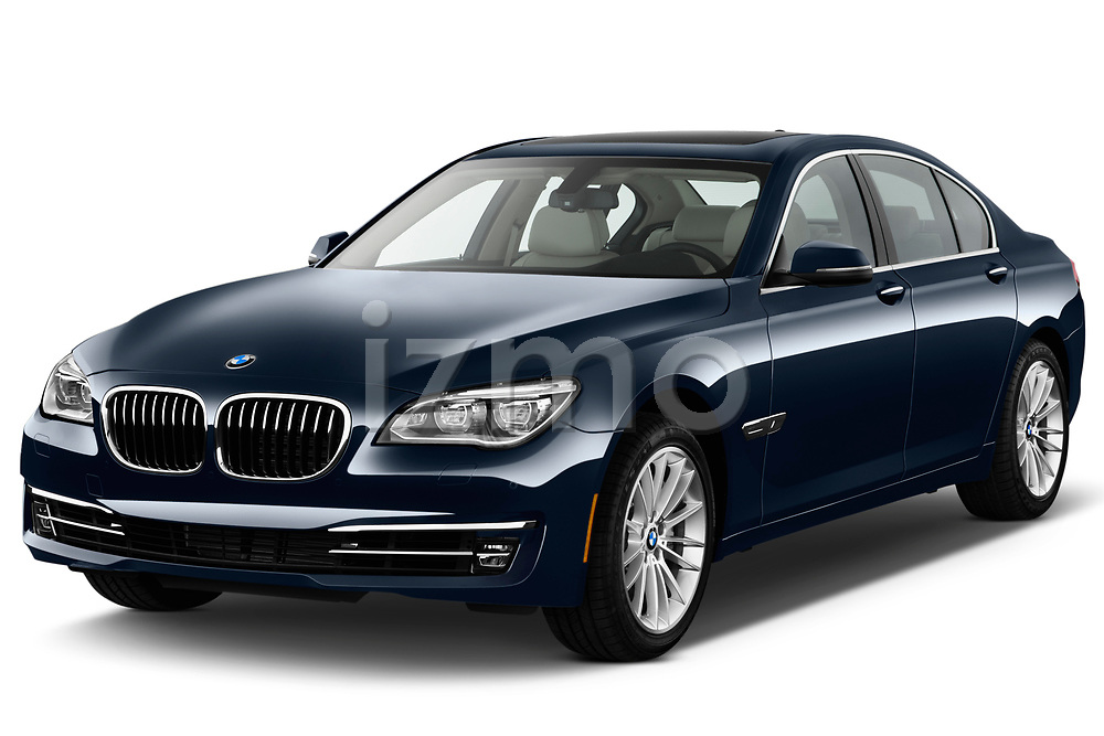 Front three quarter view of a 2013 BMW 7-Series 750i sedan.