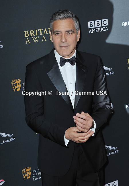 George Clooney  at  the BAFTA Britannia Awards 2013 at the Beverly Hilton In Los Angeles.