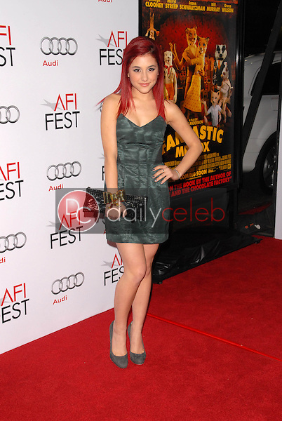 Ariana Grande<br />at the Los Angeles Screening of 'Fantastic Mr. Fox' for the opening night of AFI Fest 2009. Grauman's Chinese Theatre, Hollywood, CA. 10-30-09<br />Dave Edwards/DailyCeleb.com 818-249-4998