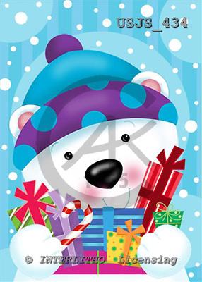 Janet, CHRISTMAS ANIMALS, paintings+++++,USJS434,#xa# Weihnachten, Navidad, illustrations, pinturas