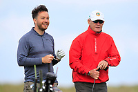 Gerard Dunne (Co.Louth) with his caddy Barry Reddan on the 9th tee during Round 2 of The East of Ireland Amateur Open Championship in Co. Louth Golf Club, Baltray on Sunday 2nd June 2019.<br /> <br /> Picture:  Thos Caffrey / www.golffile.ie<br /> <br /> All photos usage must carry mandatory copyright credit (© Golffile | Thos Caffrey)