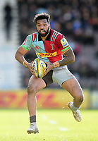 Alofa Alofa of Harlequins in possession. Aviva Premiership match, between Harlequins and Wasps on February 11, 2018 at the Twickenham Stoop in London, England. Photo by: Patrick Khachfe / JMP