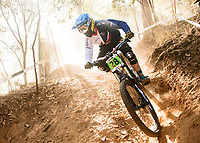 Picture by Alex Broadway/SWpix.com - 09/09/17 - Cycling - UCI 2017 Mountain Bike World Championships - Downhill - Cairns, Australia - Henry Kerr of Great Britain in action during a practice session.
