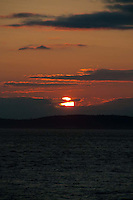 Sunset from San Juan County Park, San Juan Island, Washington, US