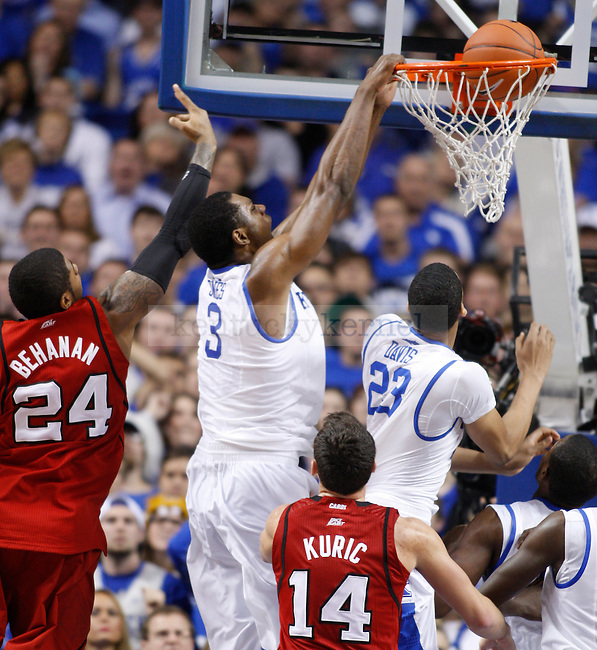 UK's Terrence Jones dunks the ball in the second half against UofL at Rupp Arena on Saturday, Dec. 31, 2011. Photo by Scott Hannigan | Staff