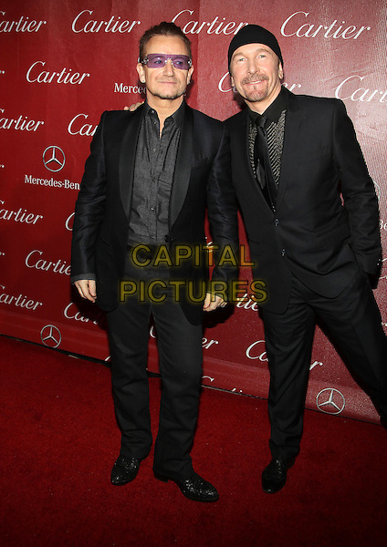 4 Januray 2014 - Palm Springs, California - Bono, The Egde, U2. 25th Annual Palm Springs International Film Festival held at the Palm Springs Convention Ceter.<br /> CAP/ADM/KB<br /> &copy;Kevan Brooks/AdMedia/Capital Pictures