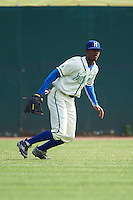 Hartford Yard Goats center fielder Raimel Tapia (15) during the first game of a doubleheader against the Trenton Thunder on June 1, 2016 at Sen. Thomas J. Dodd Memorial Stadium in Norwich, Connecticut.  Trenton defeated Hartford 4-2.  (Mike Janes/Four Seam Images)