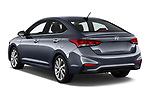 Car pictures of rear three quarter view of a 2018 Hyundai Accent Limited 4 Door Sedan angular rear