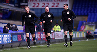 Referees Scott Duncan, Sam Lewis and Michael George during the pre-match warm-up <br /> <br /> Photographer Hannah Fountain/CameraSport<br /> <br /> The EFL Sky Bet Championship - Ipswich Town v Wigan Athletic - Saturday 15th December 2018 - Portman Road - Ipswich<br /> <br /> World Copyright © 2018 CameraSport. All rights reserved. 43 Linden Ave. Countesthorpe. Leicester. England. LE8 5PG - Tel: +44 (0) 116 277 4147 - admin@camerasport.com - www.camerasport.com