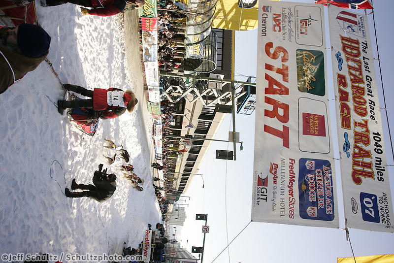 March 3, 2007   Randy Cummins during the Iditarod ceremonial start day in Anchorage