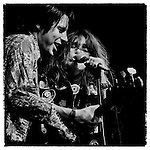 Exene Cervenka and John Doe of X the band play Phoenix's Celebrity Theatre in this undated black and white ca. 1988