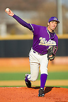 Starting pitcher Matt Benedict #33 of the Western Carolina Catamounts in action against the Wake Forest Demon Deacons at Gene Hooks Field on February 22, 2011 in Winston-Salem, North Carolina.  Photo by Brian Westerholt / Four Seam Images