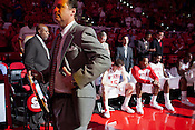 Head Coach, Mark Gottfried, NC State University vs Princeton at the RBC Center, Raleigh, NC, Wednesday, November 16, 2011. .