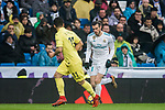 Gareth Bale (R) of Real Madrid competes for the ball with Jaume Vicent Costa Jorda, J Costa, of Villarreal CF during the La Liga 2017-18 match between Real Madrid and Villarreal CF at Santiago Bernabeu Stadium on January 13 2018 in Madrid, Spain. Photo by Diego Gonzalez / Power Sport Images