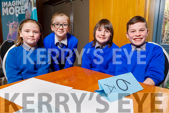 Lisselton NS students Daisy O'Connor, Kenzie Enright, Tadgh Long and Odhran Buckley at the Regional finals of the Chapter 23 Credit Union quiz in the Ballyroe Heights Hotel on Sunday.