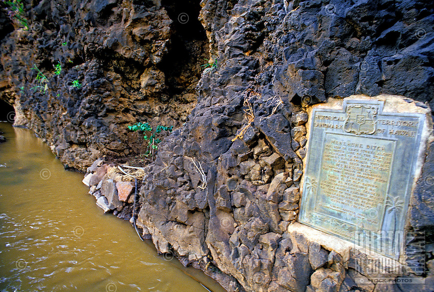 According to Hawaiian legend, Menehune Ditch was built by a race of little people prior to the Polynesians' arrival. The ditch still functions today as part of an irrigation system.