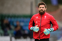 Lincoln City's Josh Vickers during the pre-match warm-up<br /> <br /> Photographer Chris Vaughan/CameraSport<br /> <br /> The EFL Sky Bet League Two - Lincoln City v Crewe Alexandra - Saturday 6th October 2018 - Sincil Bank - Lincoln<br /> <br /> World Copyright &copy; 2018 CameraSport. All rights reserved. 43 Linden Ave. Countesthorpe. Leicester. England. LE8 5PG - Tel: +44 (0) 116 277 4147 - admin@camerasport.com - www.camerasport.com