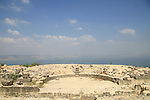 Mount Susita, the Odeon, a Roman theater at the western side of Hippos, overlooking the Sea of Galilee