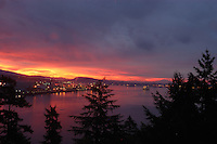 sunrise over north vancouver