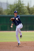 San Diego Padres shortstop Jarryd Dale (5) during an Instructional League game against the Chicago White Sox on September 26, 2017 at Camelback Ranch in Glendale, Arizona. (Zachary Lucy/Four Seam Images)
