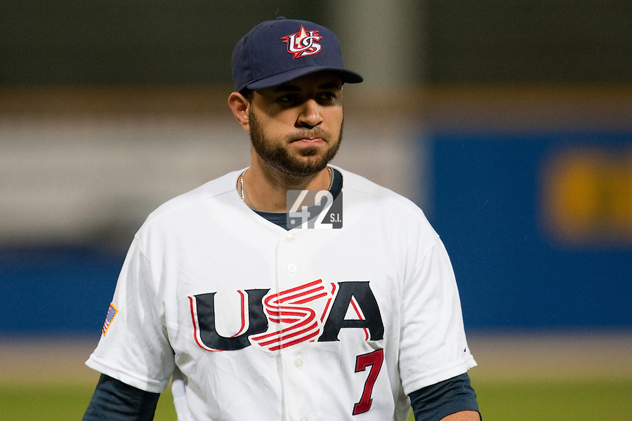 24 September 2009: Josh Kroeger of Team USA is seen during the 2009 Baseball World Cup final round match won 5-3 by Team USA over Cuba, in Nettuno, Italy.